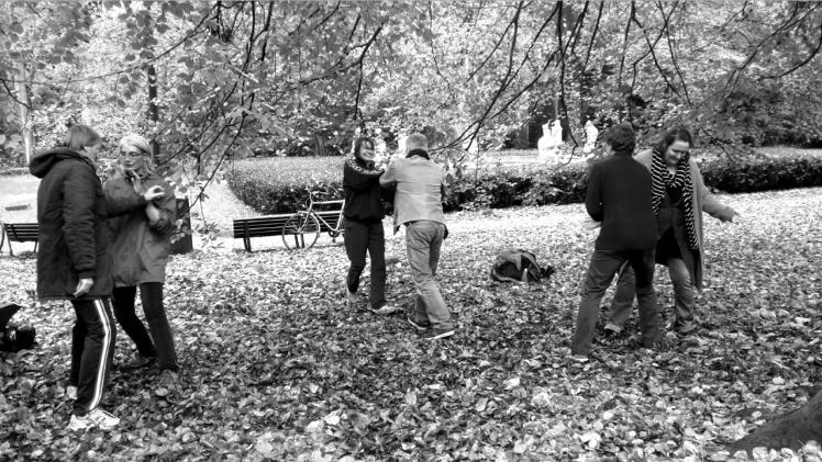 Tuishou en el parque